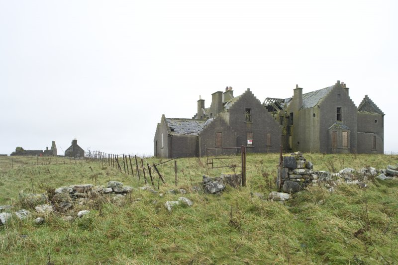 General view of Vallay House taken from W, with Old Vallay House and the Chamberlain's House visible in the background
