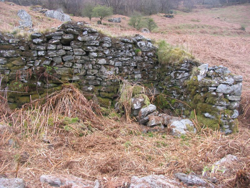 High Morlaggan: possible sheep pen inserted in building 3