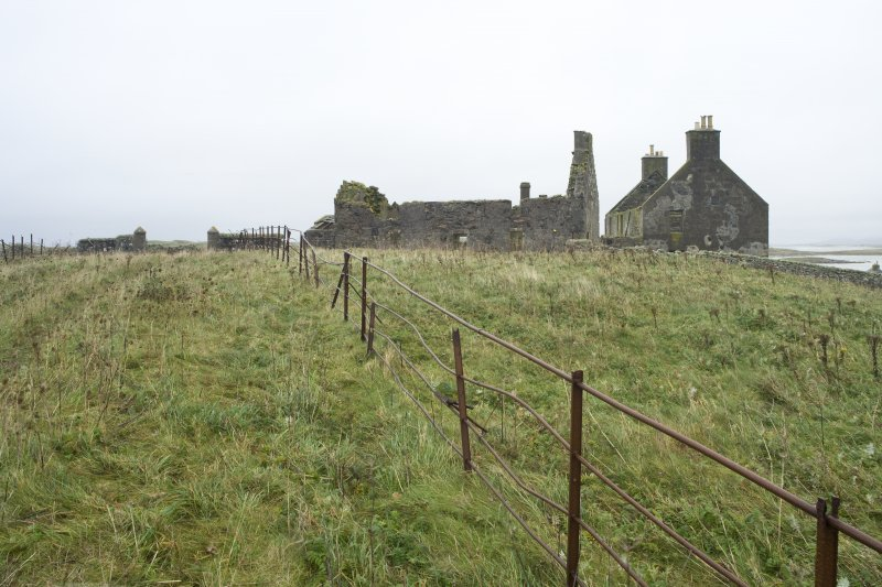 General view of Old Vallay House and the Chamberlain's House, taken from the SW