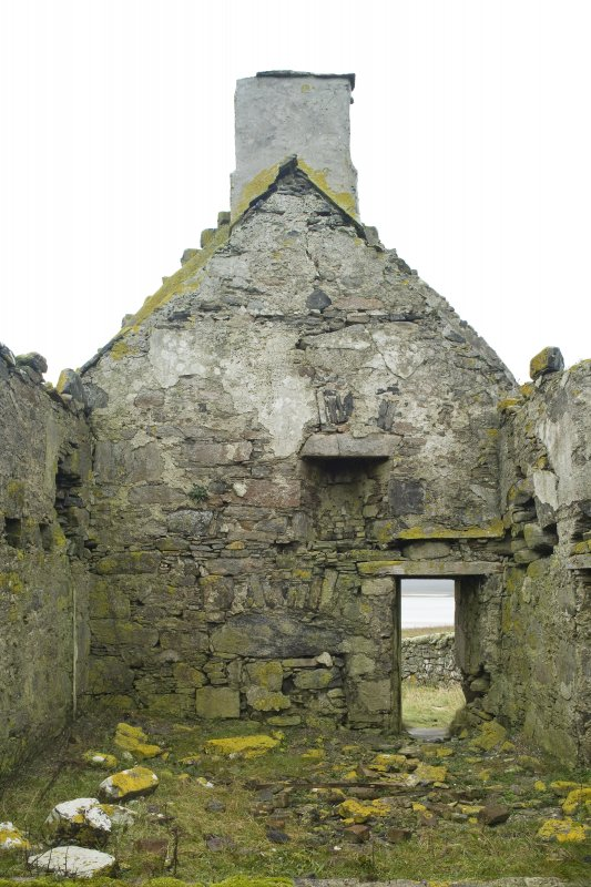 Interior view of the S gable of Old Vallay House, Vallay