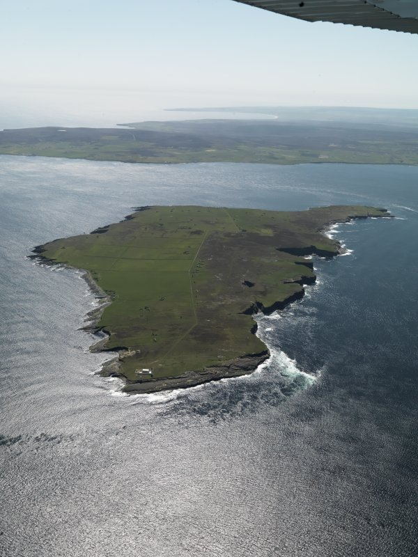 General oblique aerial view of Stroma, taken from the N.