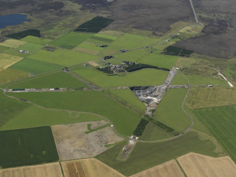 Oblique aerial view centred on Skitten airfield, taken from the SE.