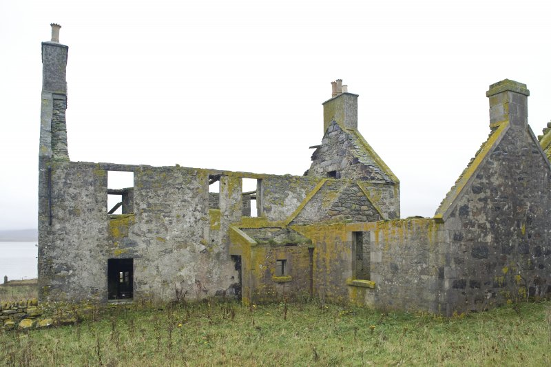 View of the rear (N) elevation of the Chamberlain's House, Vallay, taken from N
