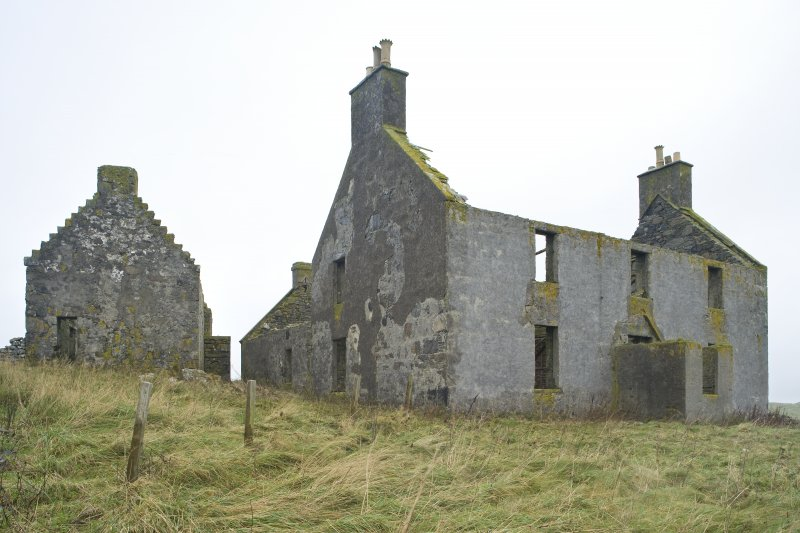 View of Old Vallay House and the Chamberlain's House, Vallay, taken from S