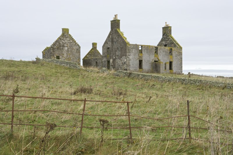 General view of Old Vallay House and the Chamberlain's House, Vallay, taken from S