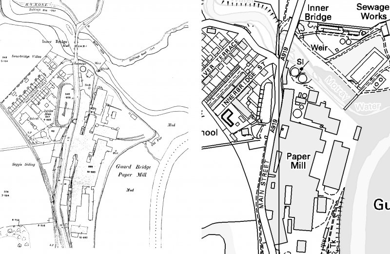 Extract from the Ordnance Survey 6-inch map, second edition, Fife, 1896, sheet VIII.NE. and extract from the Ordnance Survey 25-inch map, second edition, Fife, 1914, sheet VIII.