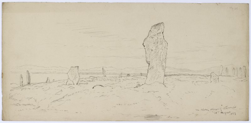 General view from Sketches of Scottish Antiquities by Waller Hugh Paton (1828-1895)