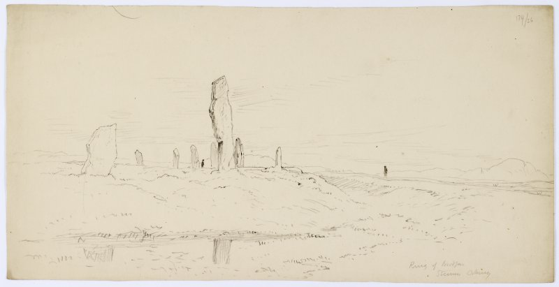 General view from Sketches of Scottish Antiquities by Waller Hugh Paton (1828-1895).