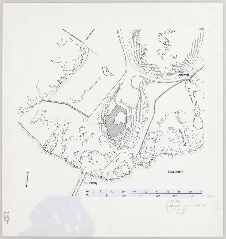 Publication drawing. Duntrune Castle; general plan.