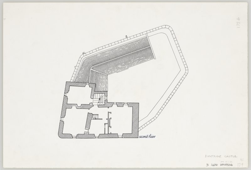 Duntrune Castle. Second floor plan.