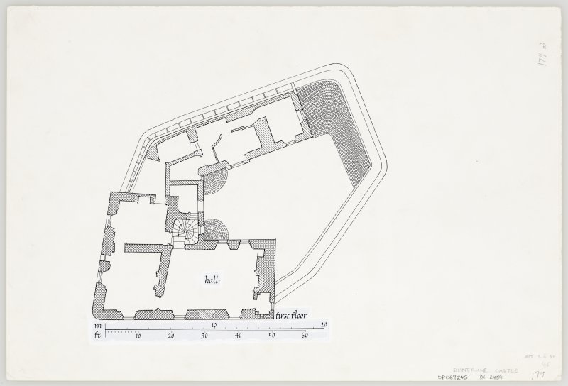 Duntrune Castle. First floor plan.