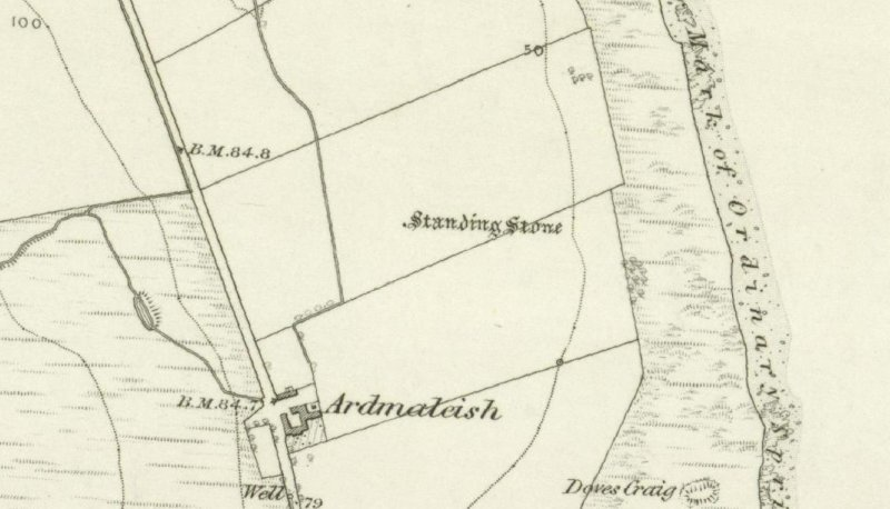Extract from OS 6-inch map of 1869.