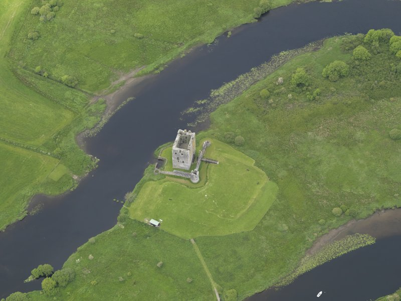 Oblique aerial view of Threave Castle, taken from the SE.