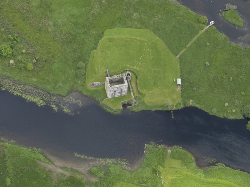 Oblique aerial view of Threave Castle, taken from the WSW.