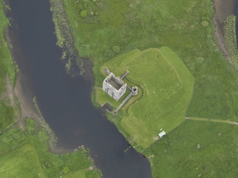 Oblique aerial view of Threave Castle, taken from the S.