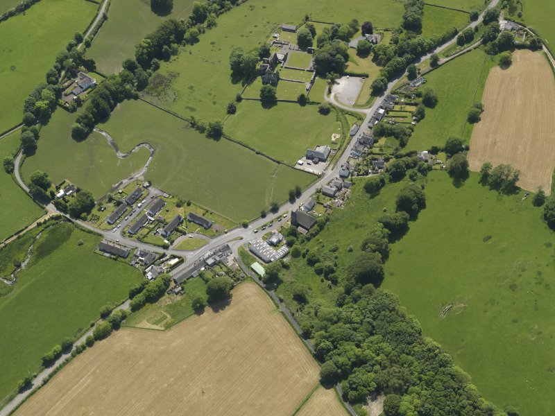 General oblique aerial view of Dundrennan, taken from the N.