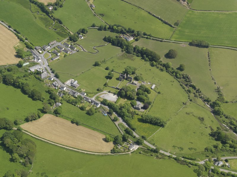General oblique aerial view of Dundrennan, taken from the WSW.