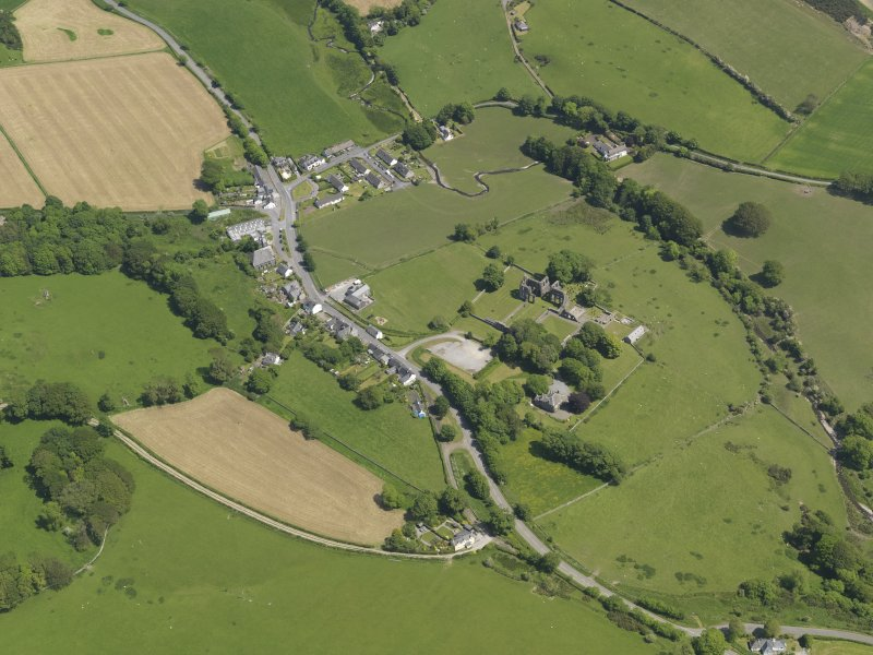General oblique aerial view of Dundrennan, taken from the W.