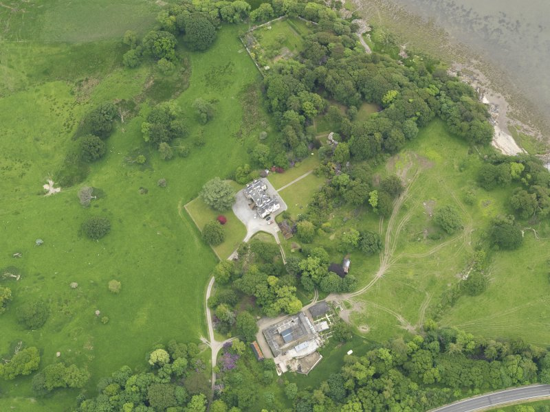 Oblique aerial view of Ardwall House and steading, taken from the NW.