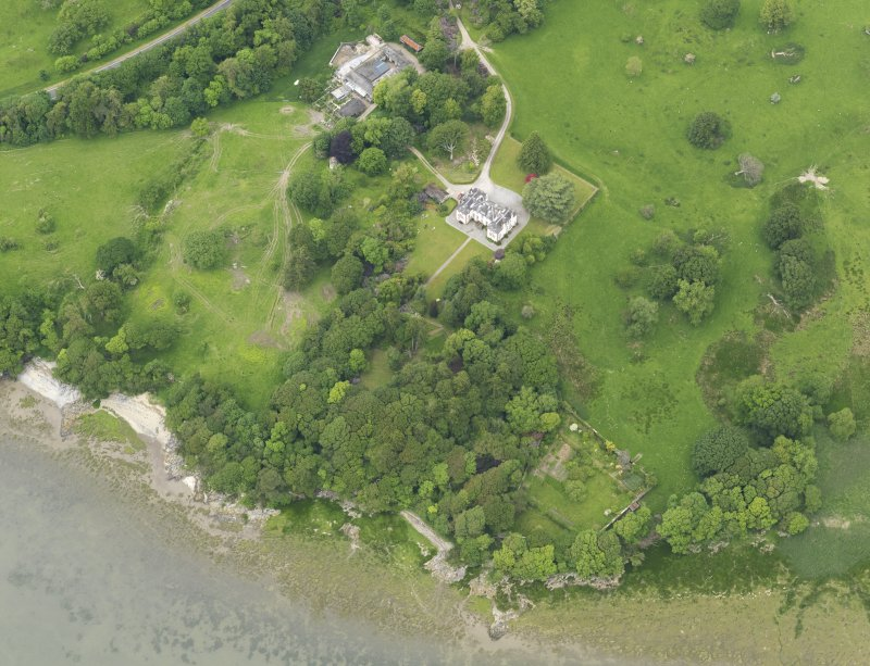 Oblique aerial view of Ardwall House and steading, taken from the SSE.