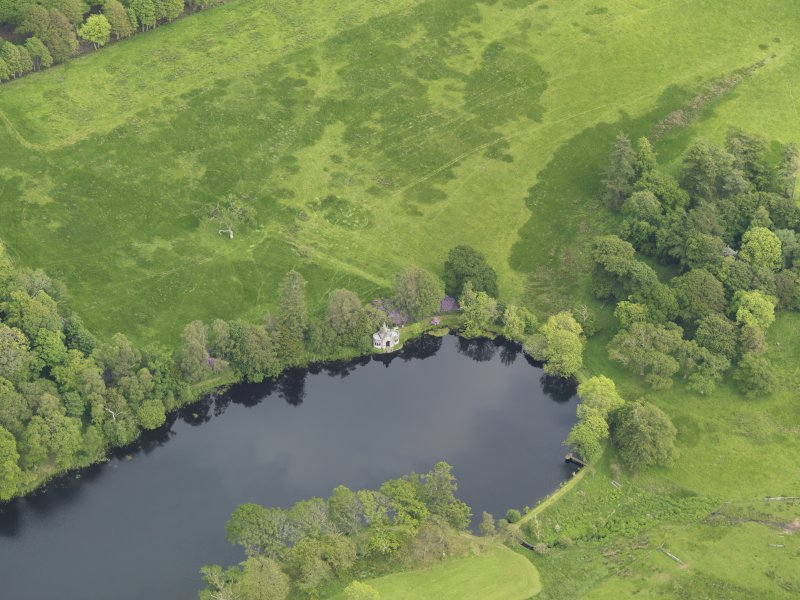 Oblique aerial view of Kinmount House bathing house, taken from the W.