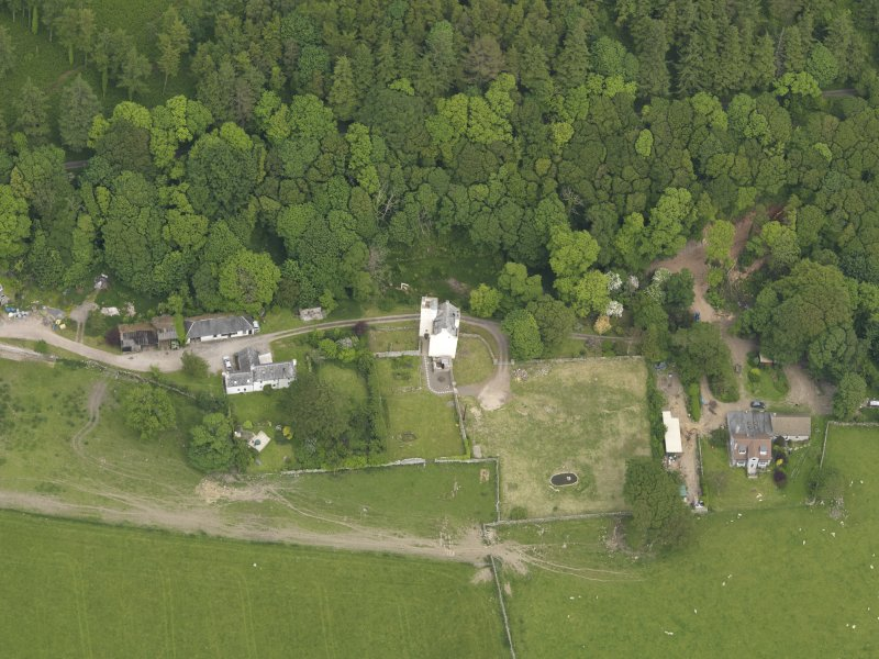 General oblique aerial view of Barholm Castle, taken from the WSW.