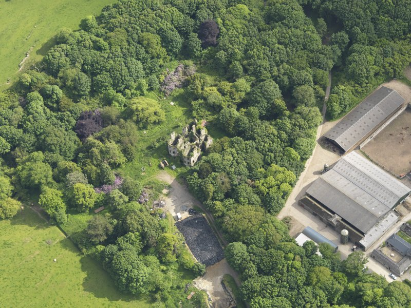 Oblique aerial view of Castlewigg country house, taken from the N.