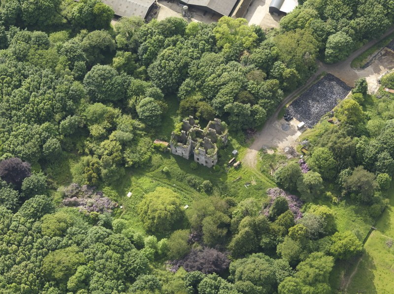 Oblique aerial view of Castlewigg country house, taken from the E.