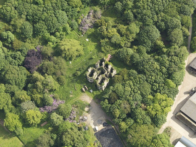 Oblique aerial view of Castlewigg country house, taken from the NNW.