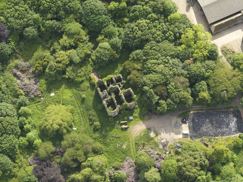 Oblique aerial view of Castlewigg country house, taken from the NE.