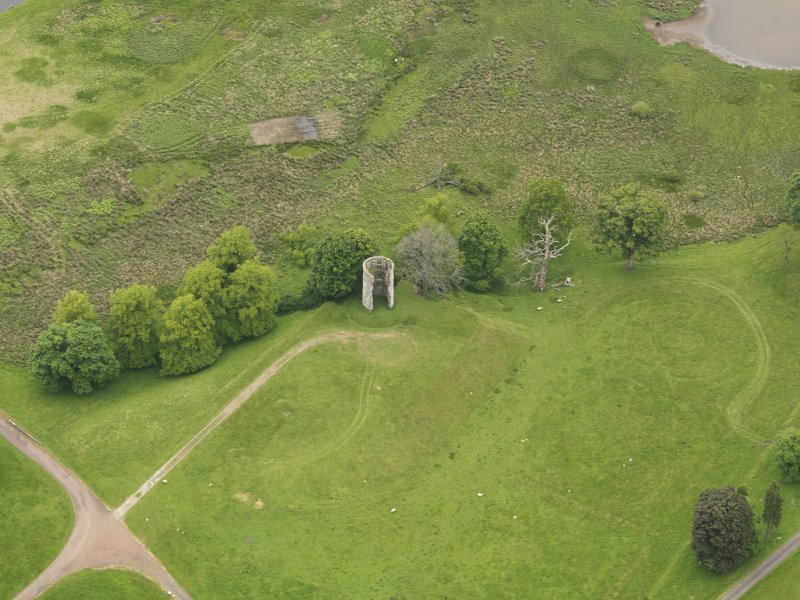 Oblique aerial view of Douglas Castle, taken from the S.