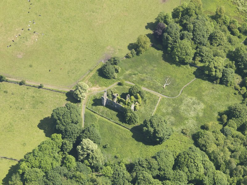 General oblique aerial view of Auchans House, taken from the SW.