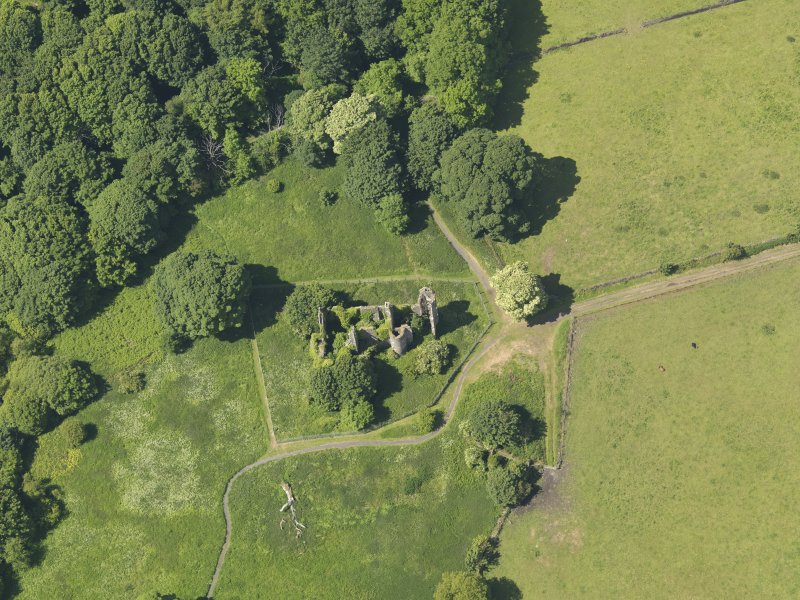 General oblique aerial view of Auchans House, taken from the E.