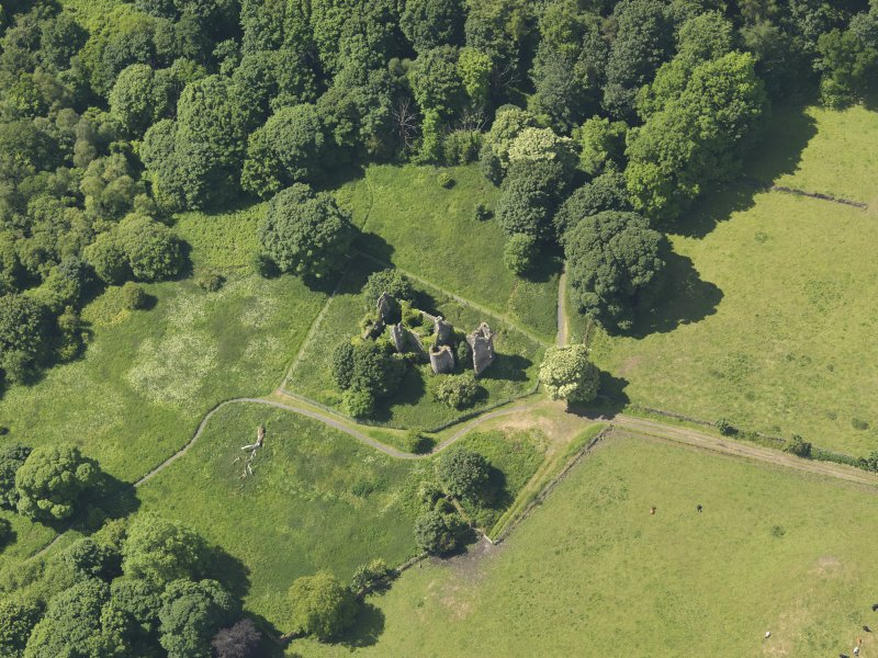 General oblique aerial view of Auchans House, taken from the NE.