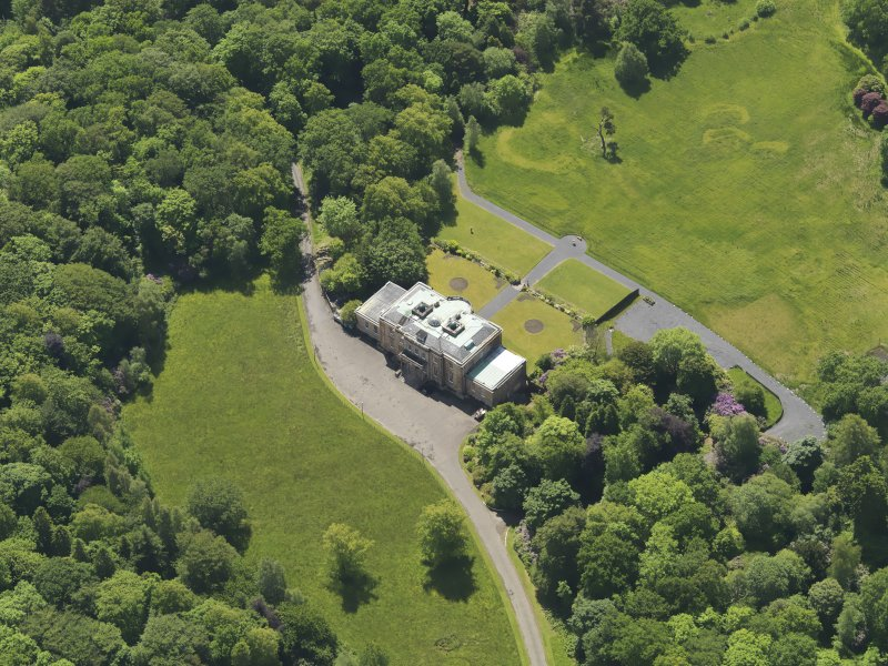 Oblique aerial view of Montgreenan House, taken from the N.