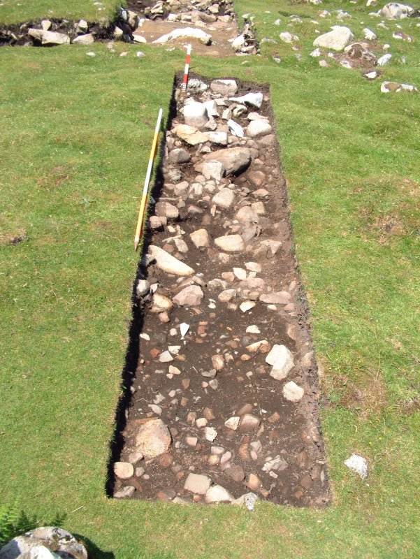 Trench 18, surface of C18.02 and F18.01 (Scales - 2m & 0.5m)