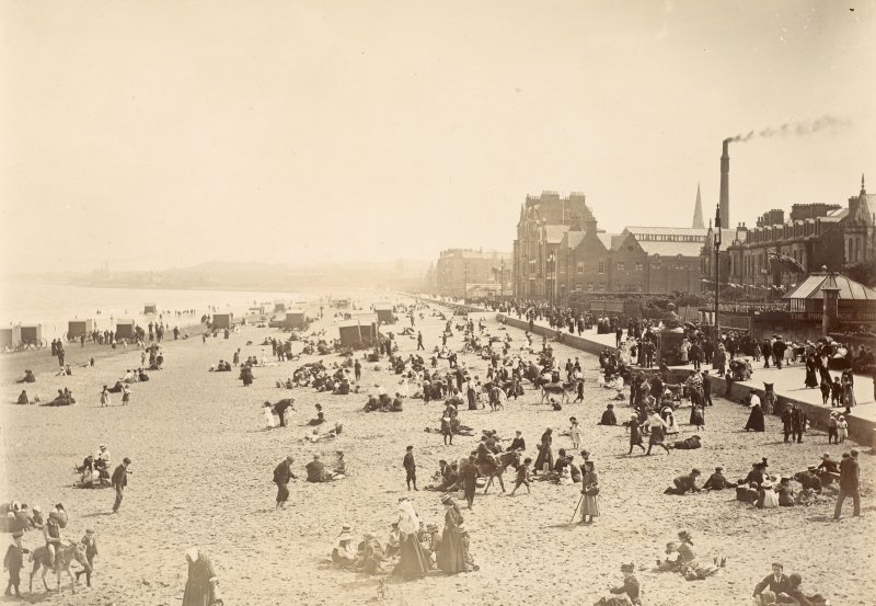 View of Portobello beach, Edinburgh, from north west.