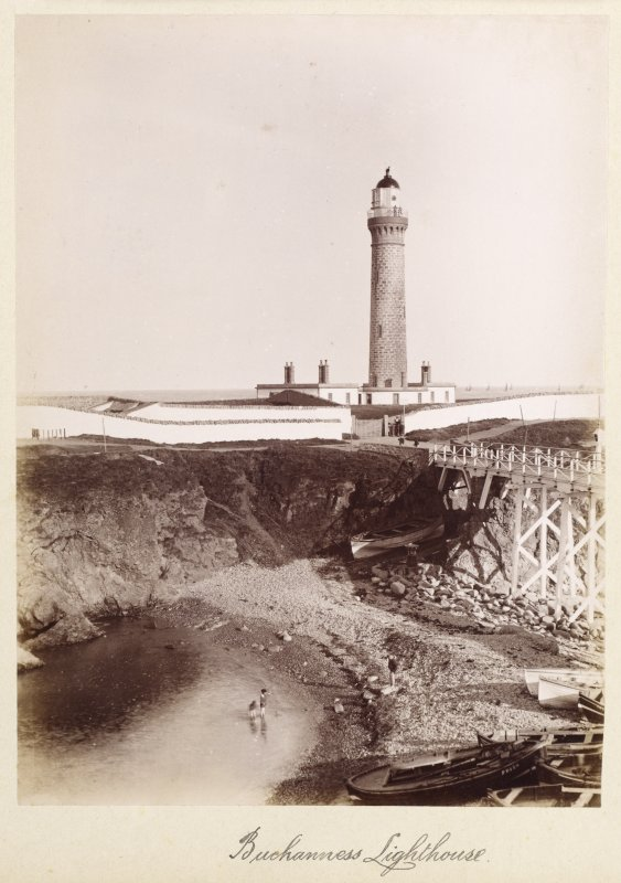 General view of Buchan Ness lighthouse and pier, Boddam.