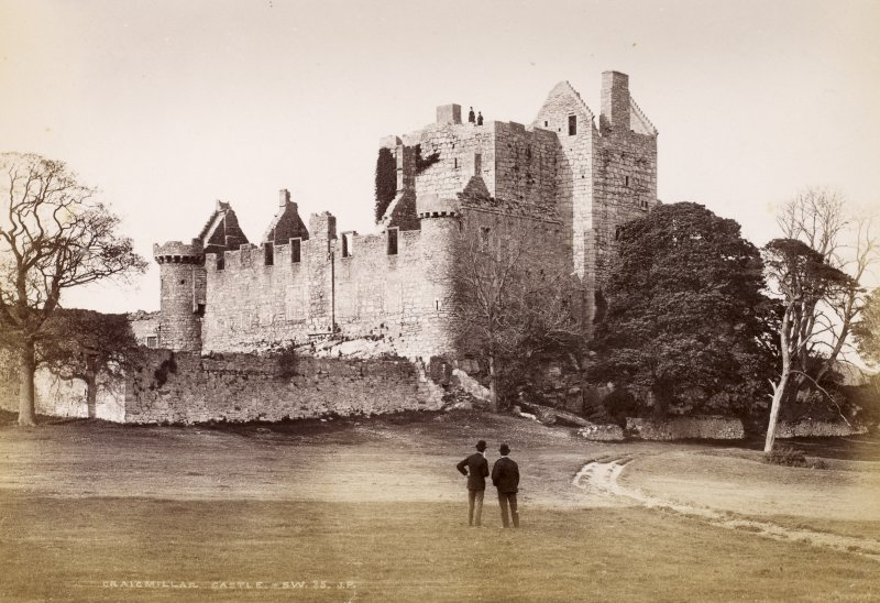 "View of Craigmillar Castle, Edinburgh.  Titled: ""Cragimillar Castle. S.W. 35. J.P."""