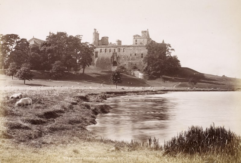 View from NE. Titled: '254. Linlithgow Palace. J.P'