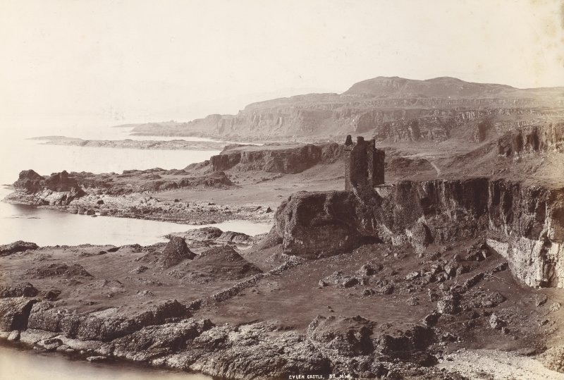 View of Gylen Castle on the Island of Kerrera in the Firth of Lorn.  Titled: 'Gylen Castle. 57. M.I.R'.
