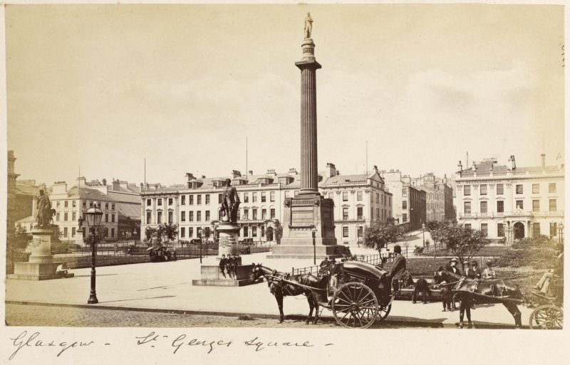 View of George Square, Glasgow.  Titled: 'Glasgow - St. George's Square'