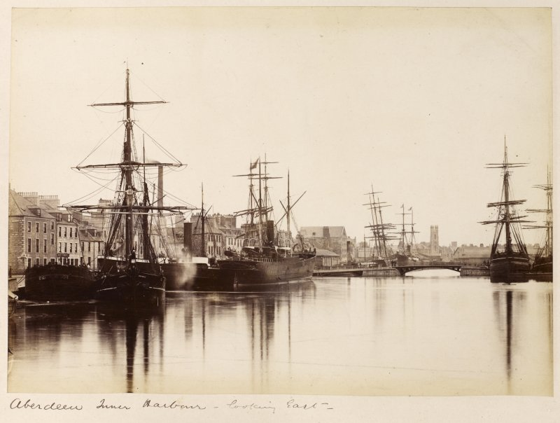 View looking E. Titled: 'Aberdeen Inner Harbour - looking East'.