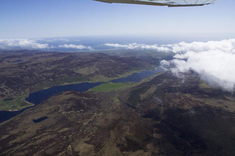 General oblique aerial view of Loch Brora, taken from the WNW.