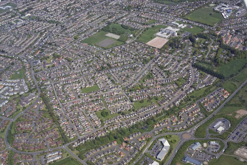 General oblique aerial view of the Letham and Burghmuir areas of Perth, taken from the W.