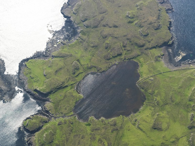 Oblique aerial view centred on Loch na h-Airde, taken from the ENE.