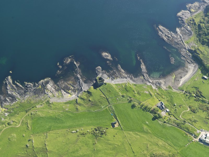 Obliqueaerial view of Mingary Castle, taken from the NNE.