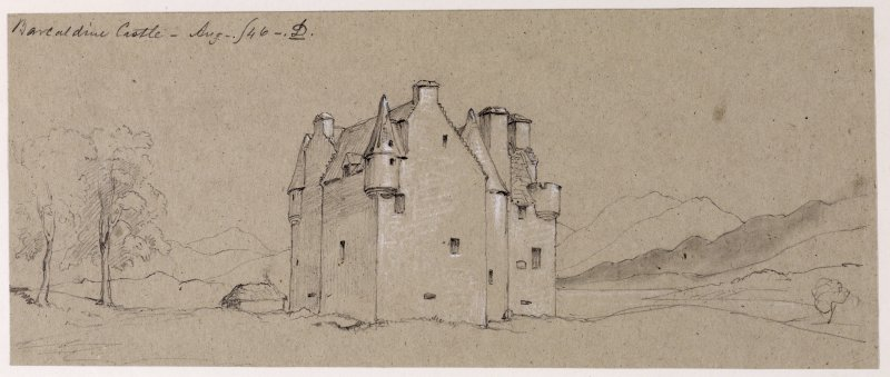 Drawing of Barcaldine Castle.