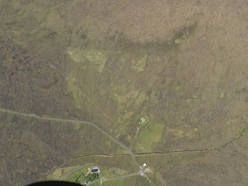 Oblique aerial view centred on the sheepfold, taken from the S.