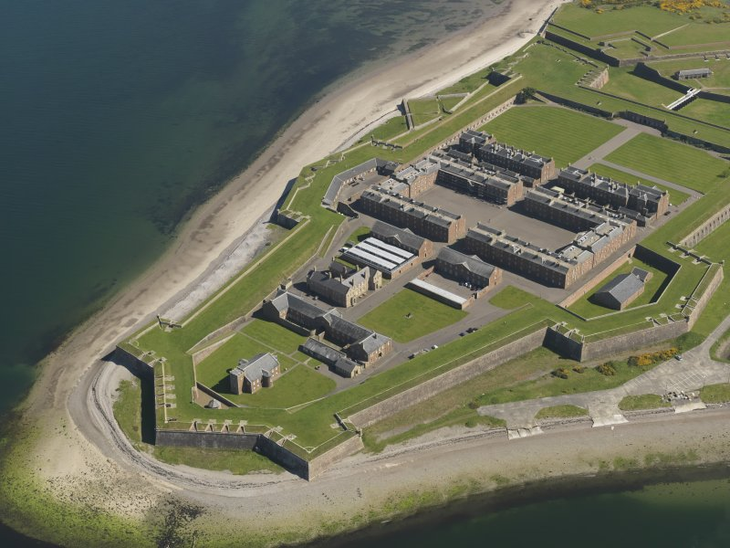 Oblique aerial view of Fort George, taken from the SW.
